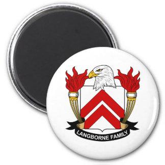 Escudo de la familia de Langborne Imán Redondo 5 Cm