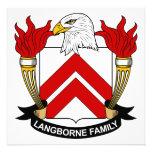Escudo de la familia de Langborne Invitacion Personal