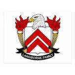 Escudo de la familia de Langborne Postal