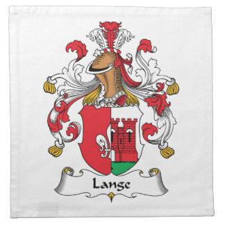 Escudo de la familia de Lange Servilletas Imprimidas