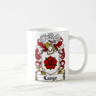 Escudo de la familia de Lange Taza Clásica