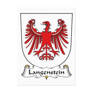 Escudo de la familia de Langenstein Lienzo Envuelto Para Galerias