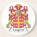 Escudo de la familia de Langevin Posavaso Para Bebida