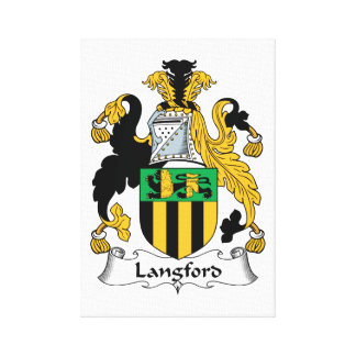 Escudo de la familia de Langford Impresión En Lienzo