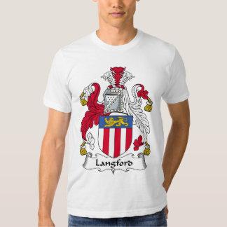 Escudo de la familia de Langford Playeras
