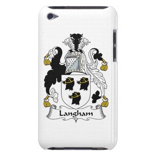 Escudo de la familia de Langham Case-Mate iPod Touch Cárcasas