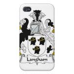 Escudo de la familia de Langham iPhone 4/4S Carcasas