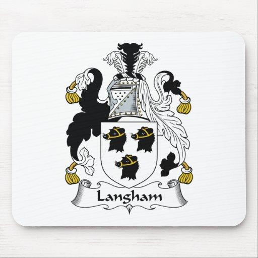 Escudo de la familia de Langham Tapetes De Ratón