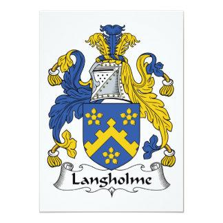 """Escudo de la familia de Langholme Invitación 5"""" X 7"""""""