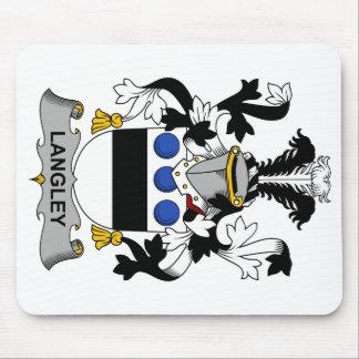 Escudo de la familia de Langley Alfombrilla De Ratones