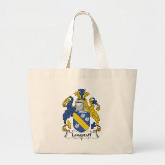 Escudo de la familia de Langstaff Bolsas Lienzo