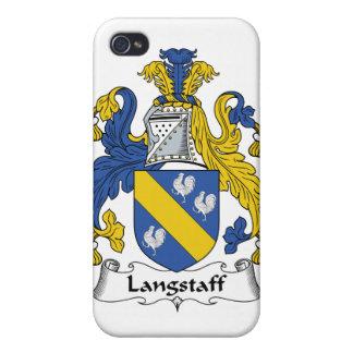 Escudo de la familia de Langstaff iPhone 4/4S Carcasas