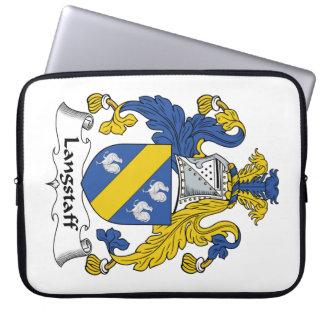 Escudo de la familia de Langstaff Funda Portátil