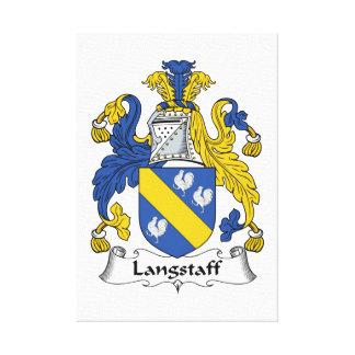 Escudo de la familia de Langstaff Impresión En Lienzo Estirada