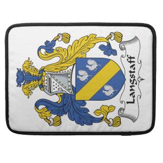Escudo de la familia de Langstaff Funda Para Macbooks