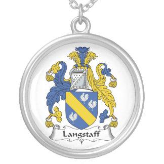 Escudo de la familia de Langstaff Pendientes