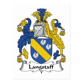 Escudo de la familia de Langstaff Postal
