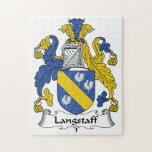 Escudo de la familia de Langstaff Rompecabezas Con Fotos
