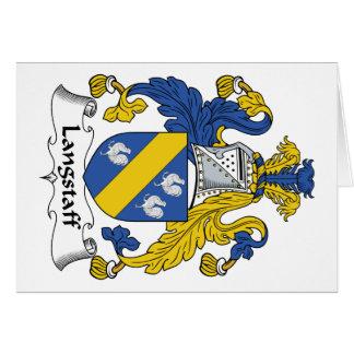 Escudo de la familia de Langstaff Tarjeta De Felicitación