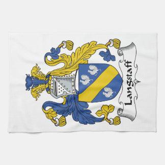 Escudo de la familia de Langstaff Toalla De Mano