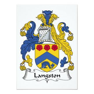 """Escudo de la familia de Langston Invitación 5"""" X 7"""""""