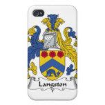 Escudo de la familia de Langston iPhone 4 Cárcasa