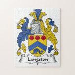 Escudo de la familia de Langston Puzzles Con Fotos