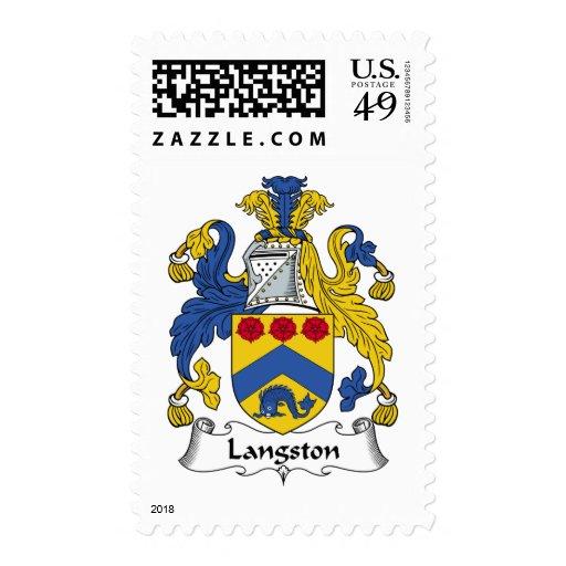 Escudo de la familia de Langston Sellos