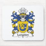 Escudo de la familia de Langston Alfombrilla De Raton