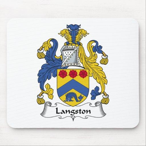 Escudo de la familia de Langston Alfombrillas De Raton