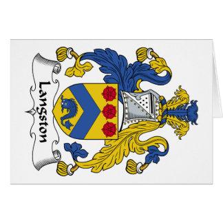 Escudo de la familia de Langston Tarjeta De Felicitación