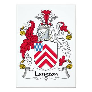 """Escudo de la familia de Langton Invitación 5"""" X 7"""""""