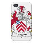 Escudo de la familia de Langton iPhone 4/4S Funda