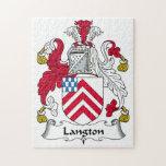 Escudo de la familia de Langton Puzzle