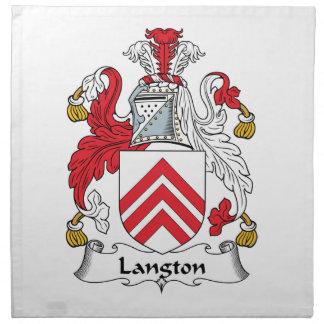 Escudo de la familia de Langton Servilletas De Papel