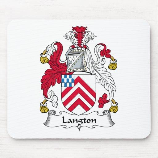 Escudo de la familia de Langton Alfombrillas De Raton
