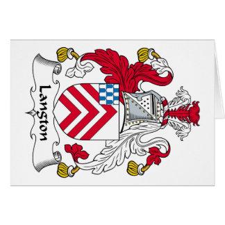 Escudo de la familia de Langton Tarjeta De Felicitación