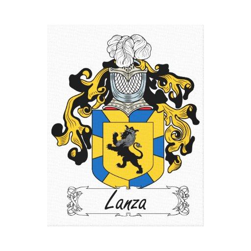 Escudo de la familia de Lanza Impresiones En Lona