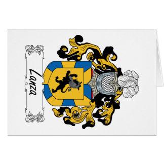 Escudo de la familia de Lanza Tarjeta De Felicitación