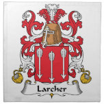 Escudo de la familia de Larcher Servilletas Imprimidas