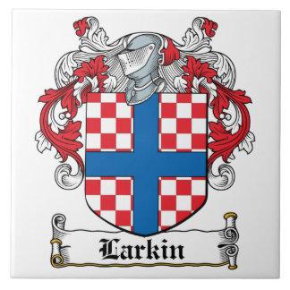 Escudo de la familia de Larkin Azulejo Cuadrado Grande