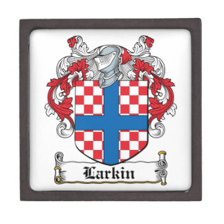Escudo de la familia de Larkin Cajas De Regalo De Calidad