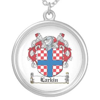Escudo de la familia de Larkin Colgante Redondo