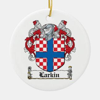Escudo de la familia de Larkin Adorno Redondo De Cerámica