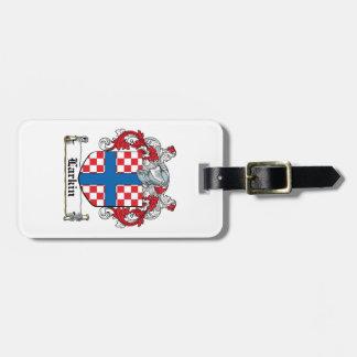 Escudo de la familia de Larkin Etiqueta Para Equipaje