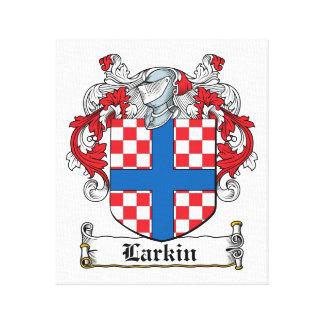 Escudo de la familia de Larkin Lienzo Envuelto Para Galerías