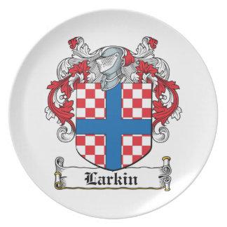 Escudo de la familia de Larkin Platos