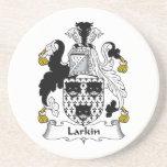 Escudo de la familia de Larkin Posavasos Diseño