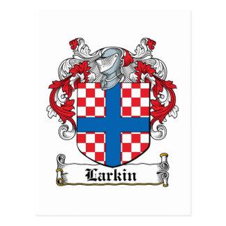 Escudo de la familia de Larkin Postales