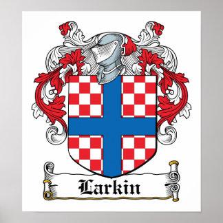 Escudo de la familia de Larkin Póster